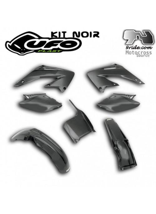 Kit plastique CR125-CR250 HONDA 2005-cr2006-cr2007 NOIR.