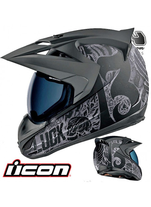 Casque route ICON VARIANT CONSTRUCT HARD LUCK 9ride