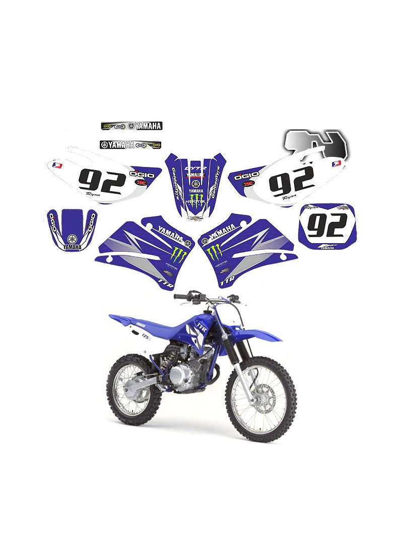 Kit déco TTR-125 Yamaha de 2000 à 2007.