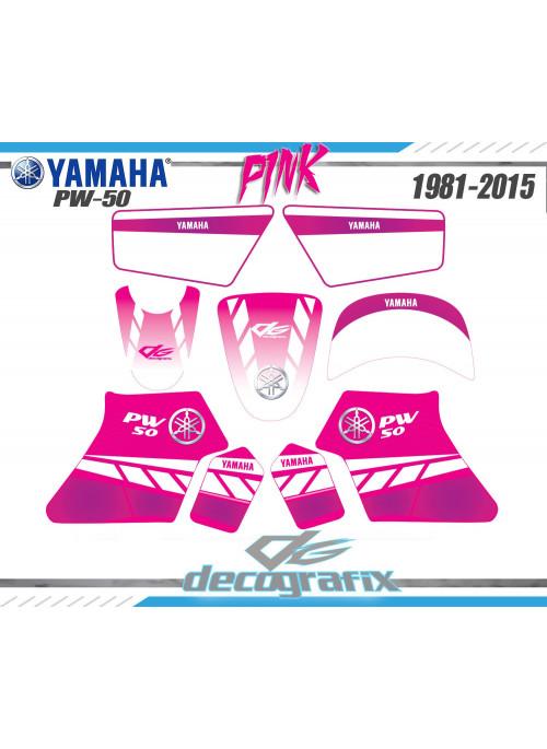 Kit déco 50 PIWI Rose YAMAHA pw50 50PW