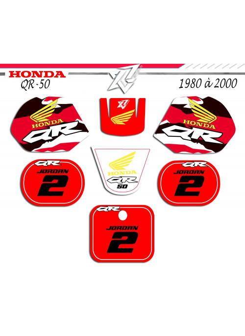 Kit deco motos pour 50QR QR-50 HONDA tout modéles sur xride.fr par decografix