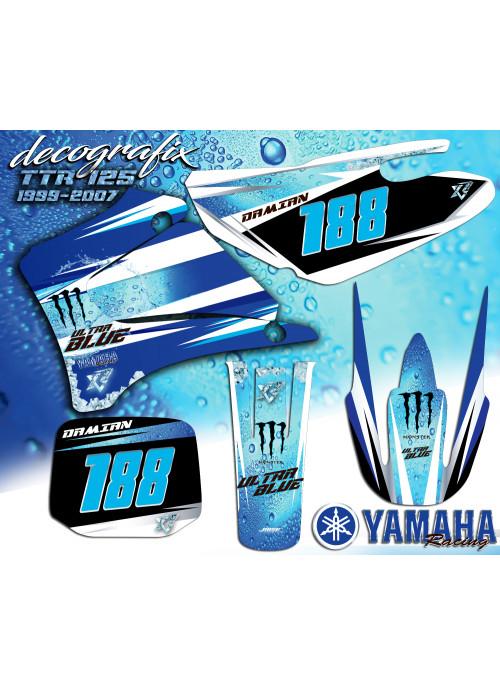 Kit déco ULTRA BLUE TTR125 Yamaha 1999-2008