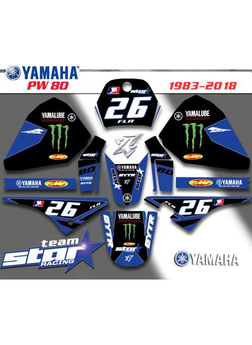 KIt deco TEAM STAR-RACING Yamaha PW 80
