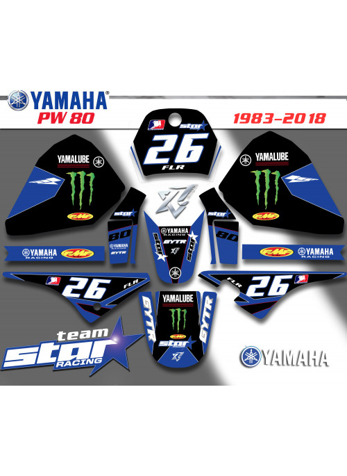 KIt deco TEAM STAR-RACING Yamaha PW 80