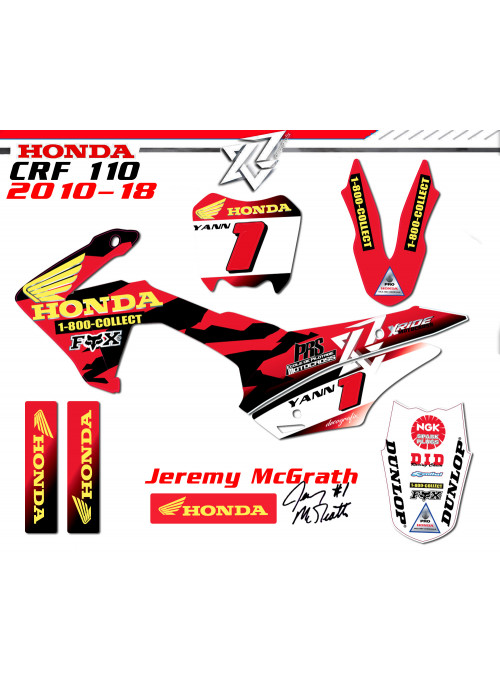 kit deco HONDA CRF 110 Kit déco Jeremy Mcgrath Factory Replica
