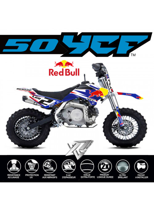 Kit deco RED BULL complet YCF 50 A - E