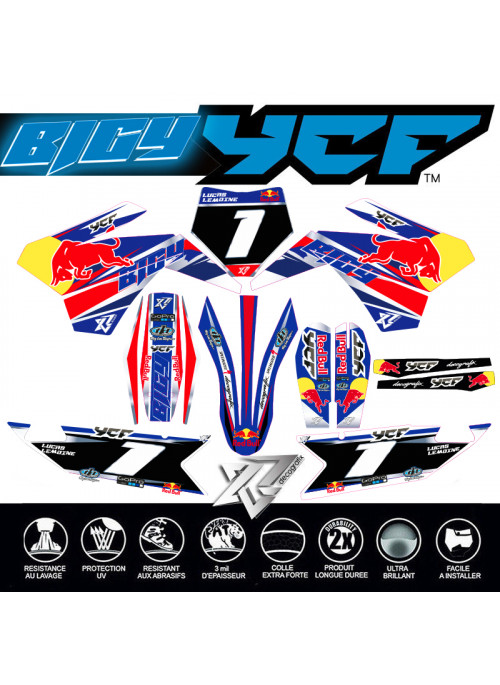 Kit deco TEAM FACTORY pour YCF-BIGY