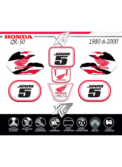 Kit deco QR-50 HONDA BLANC decografix sur xride.fr