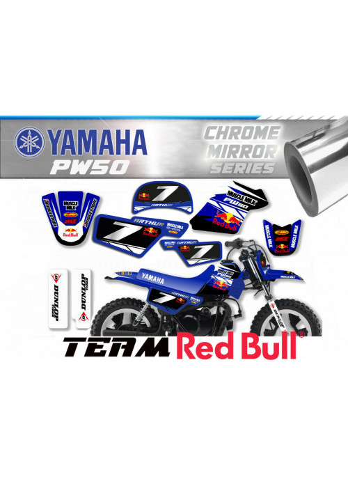 Kit déco decografix YAMAHA 50-PW TEAM FACTORY NUMERO CHROME