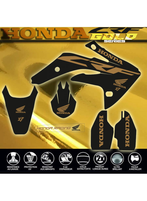 Kit déco CR-F 150 CRF150 GOLD SERIES OR BRILLANT Decografix