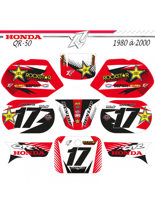 Kit deco QR-50 HONDA ROCKSTAR ENERGY Decografix