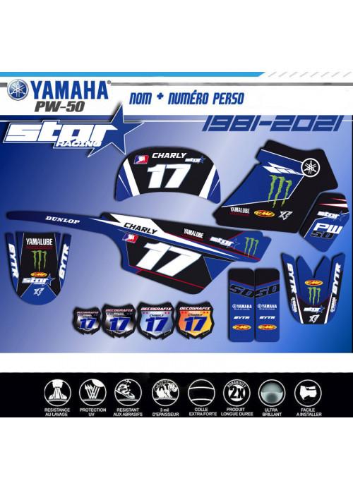 Kit déco YAMAHA PW 50 STAR-RACING TEAM