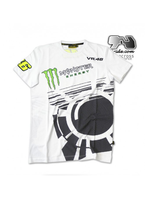 Tee shirt blanc VR6 Monster energy