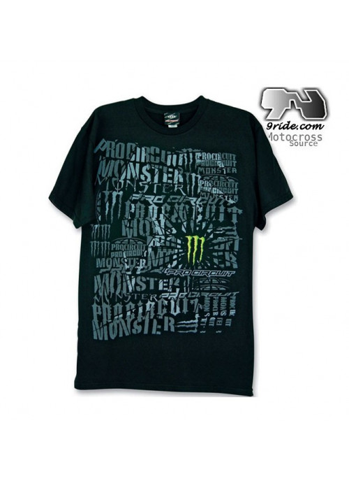 Tee shirt  Monster energy Pro Circuit The Quake
