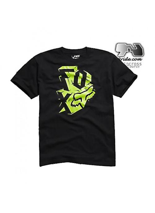 T shirt fox racing whaky noir et vert