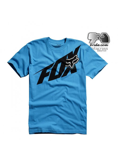 T shirt fox racing Superfast Bleu