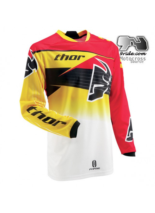 Maillot THOR Phase Steak Rouge